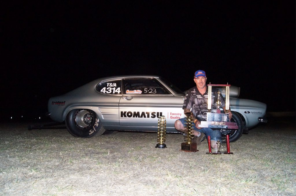 Jason Arbery with trophies